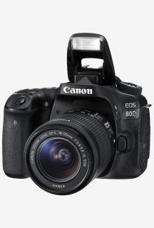 Canon EOS 80D (EF-S18-55 IS STM Lens) DSLR Camera 16GB SD Card (Black)