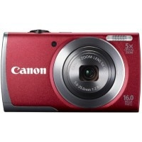Canon PowerShot A3500 IS Point & Shoot Digital Camera Red