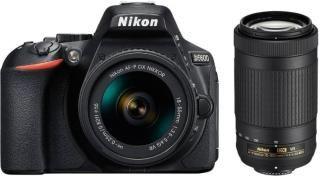 Nikon D5600 l1 DSLR Camera Body with Lens: AF-P DX Nikkor 18-55 MM + 70-300MM(Black)