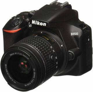 Nikon DSLR D3500 DSLR Camera Body with Single Lens: AF-P DX NIKKOR 18-55 mm f/3.5-5.6G VR Kit with free Camera bag DSLR Camera AF-P DX NIKKOR 18-55mm f/3.5-5.6G VR(Black)
