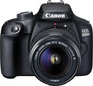 Canon EOS 3000D DSLR Camera Single Kit with 18-55 lens (16 GB Memory Card & Carry Case)(Black)