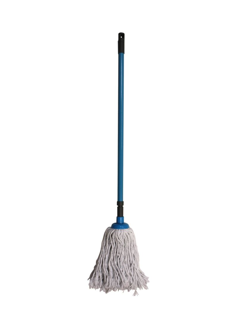 Mop With Telescopic Handle And Cotton Threads Blue/White