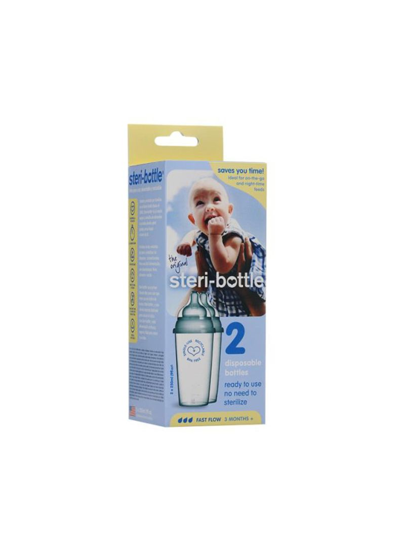 2-Piece Plastic Disposable Bottles Set 250ml