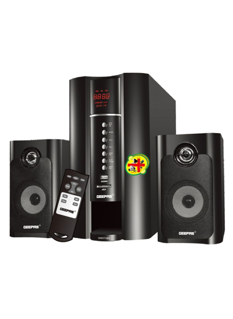 2.1-Channel Home Theater System With Acoustic Equalizer GMS7493N Black