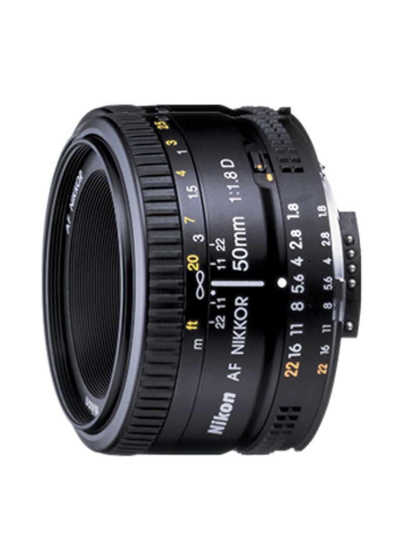 AF Nikkor 50mm f/1.8D Lens For Nikon Black