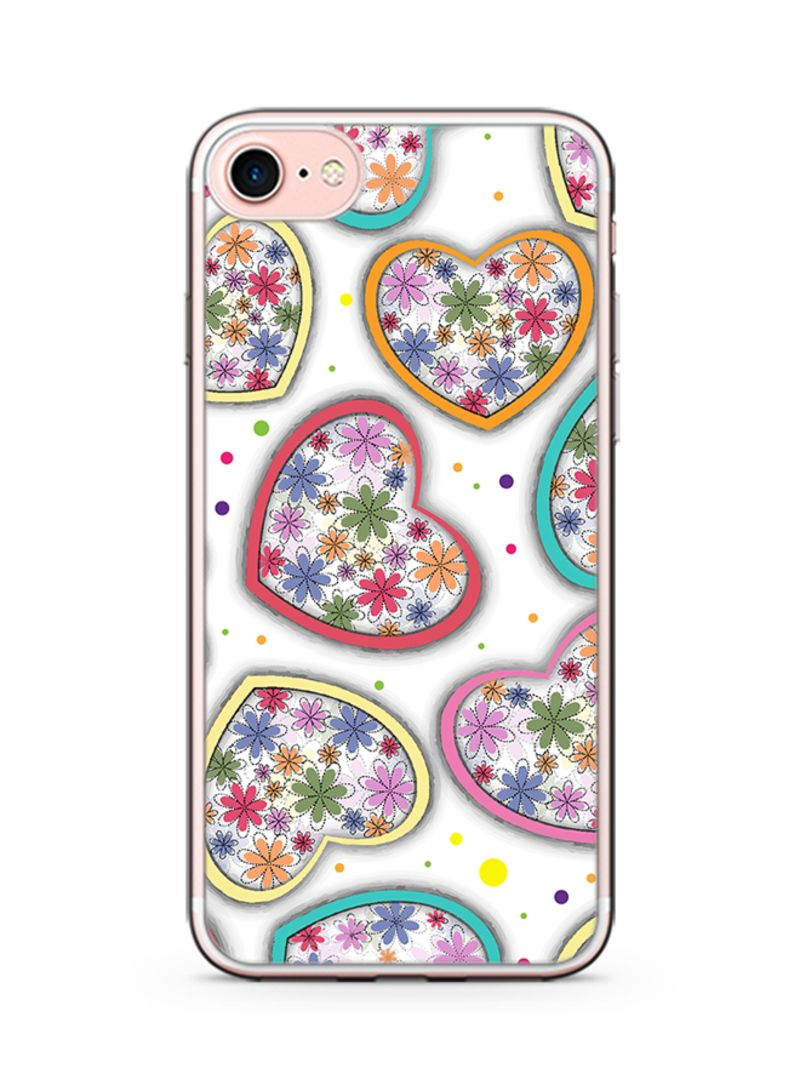 Plastic Ultra Slim Case Cover For Apple iPhone 8 Plus Valentines Gift Rainbow Love Heart Pattern