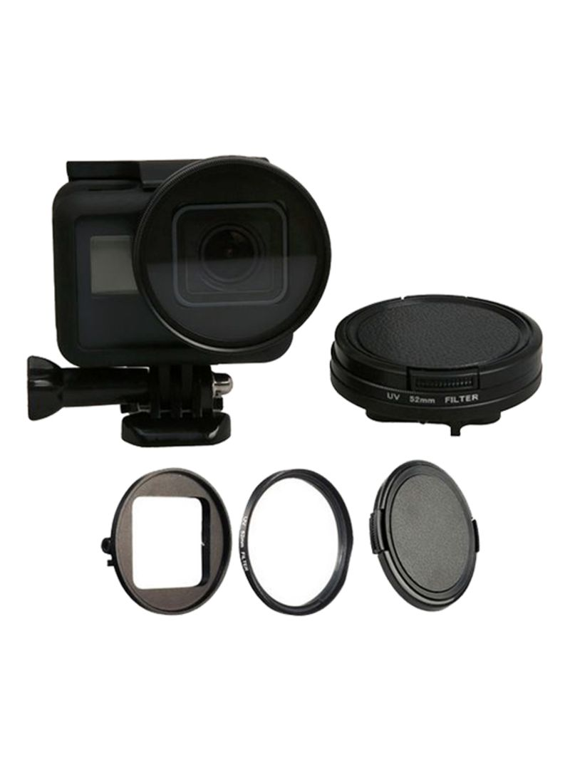 UV Filter With Lens Protector Cap And Adapter Ring Filters For GoPro Hero5 Black 52 millimeter