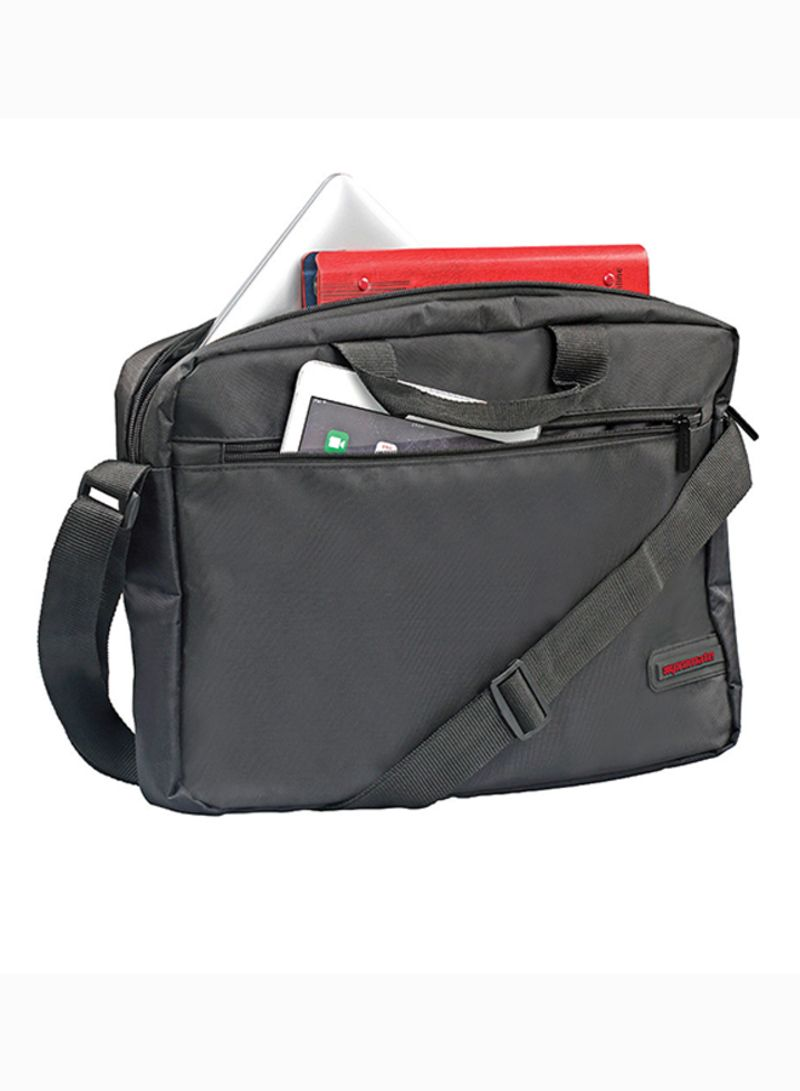 Messenger Bag With Water-Resistance For 15.6-Inch Laptops, MacBook Pro, Asus, HP, Samsung Black