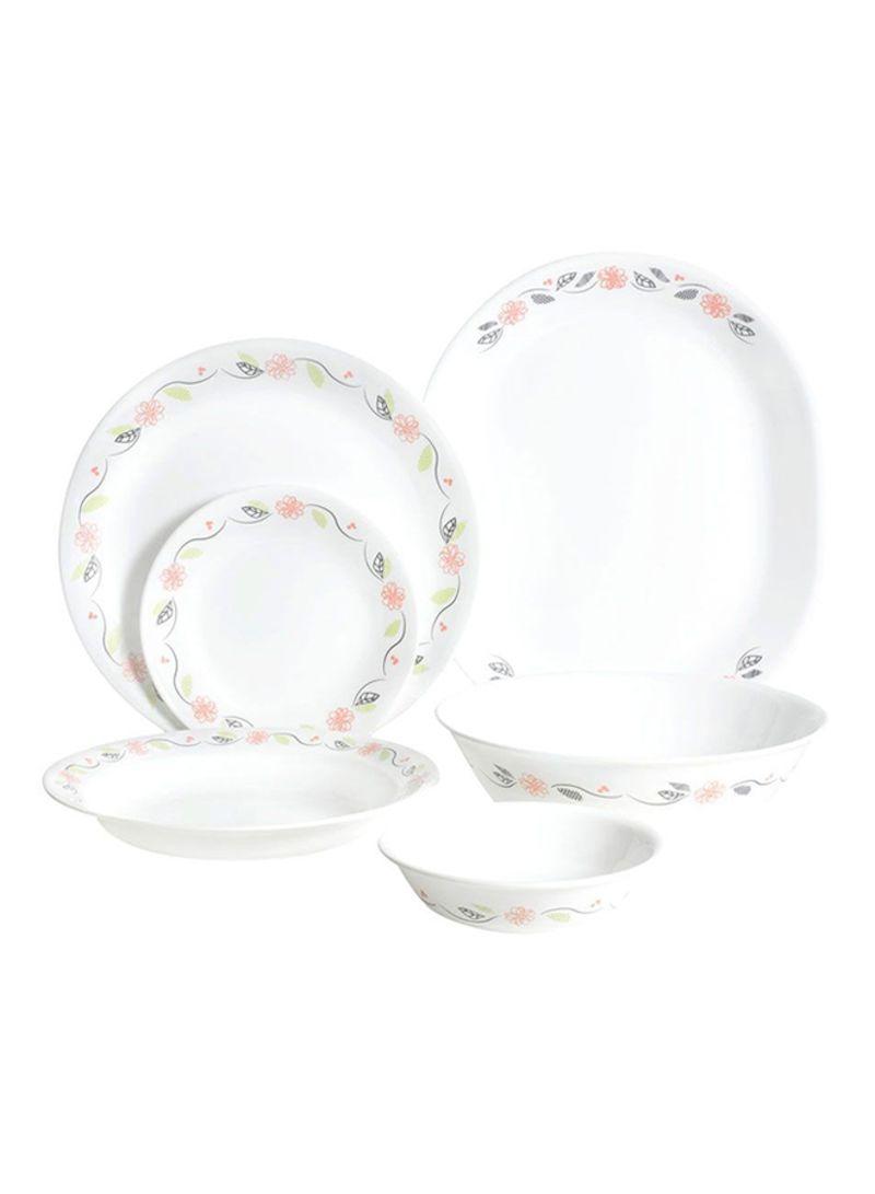 26-Piece Livingware Winter Frost Dinnerware Set White