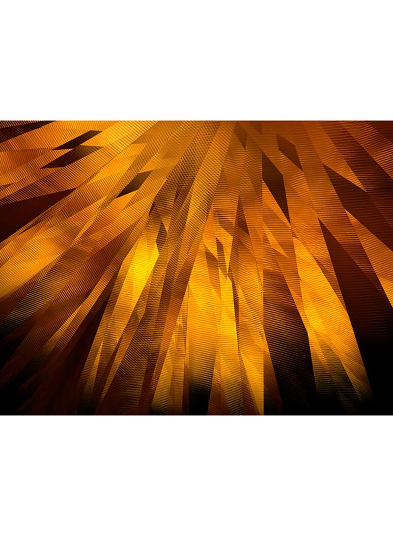 Abstract Golden Belts Wall Art Canvas Print Multicolour 50x38x3.5 centimeter