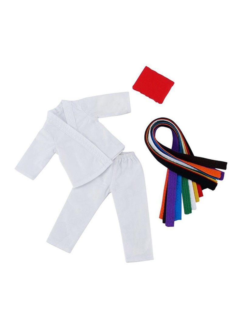 Karate Athletic Outfit With 9 Belts
