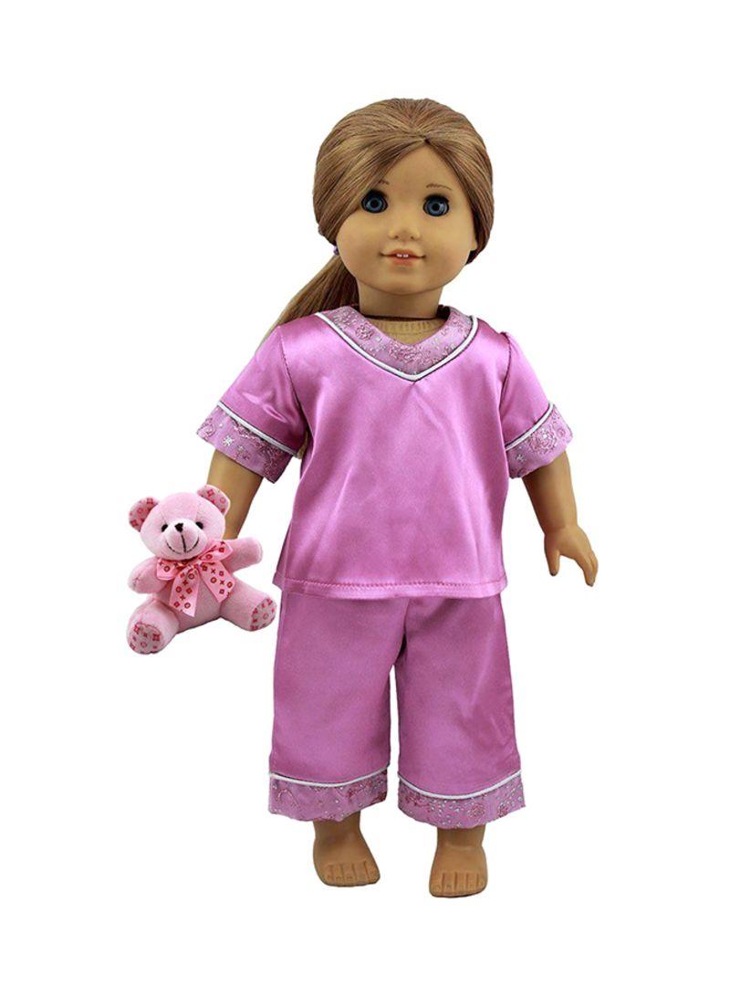 Doll Sleepwear With Bear