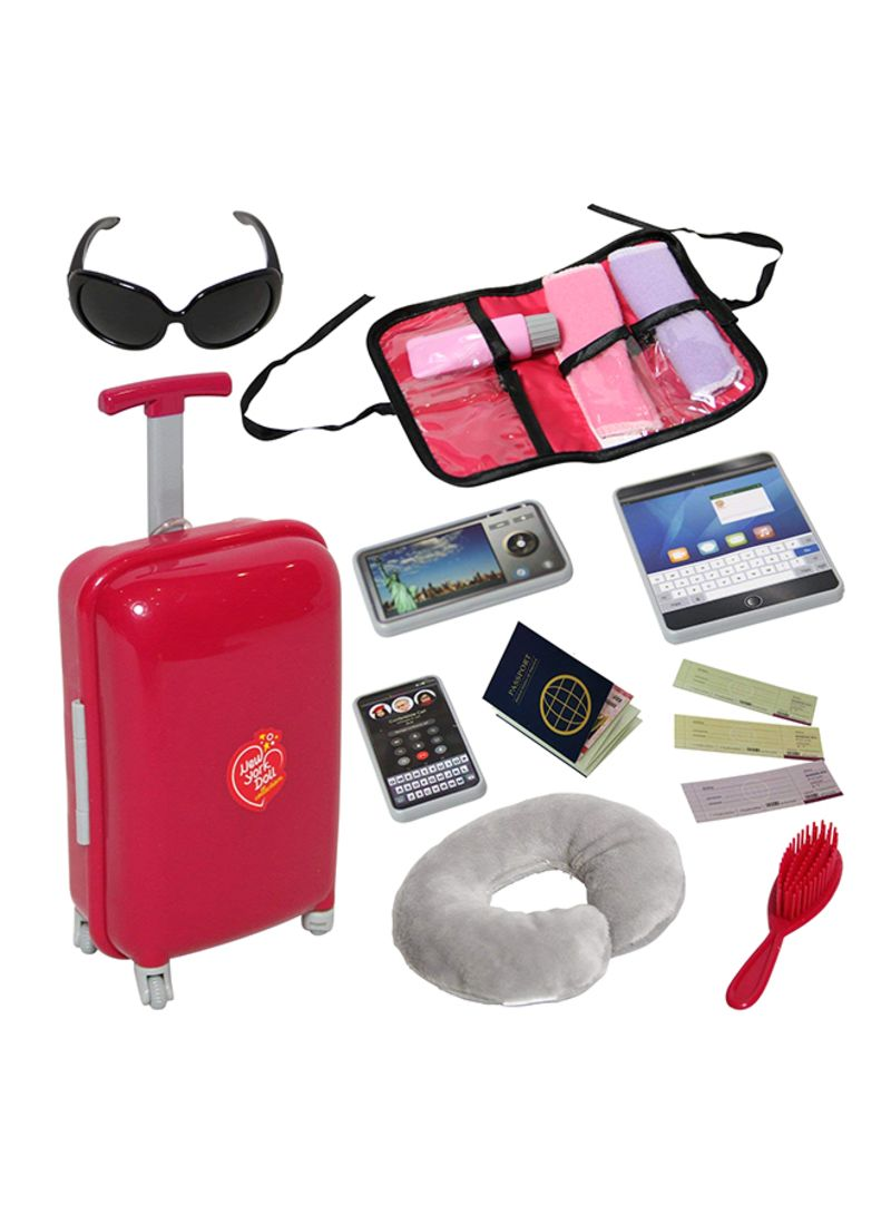 Doll Travel Suitcase With Accessories