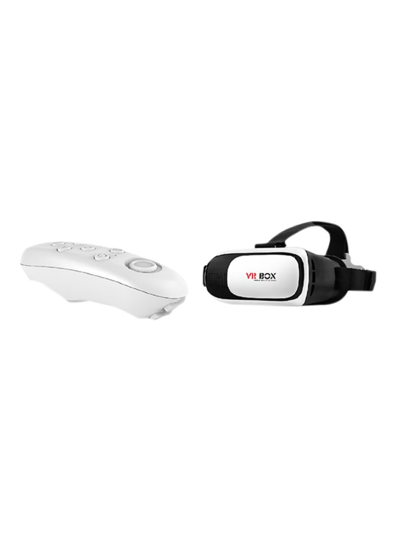 3D VR Box With Smart Bluetooth Gamepad Controller Black/White