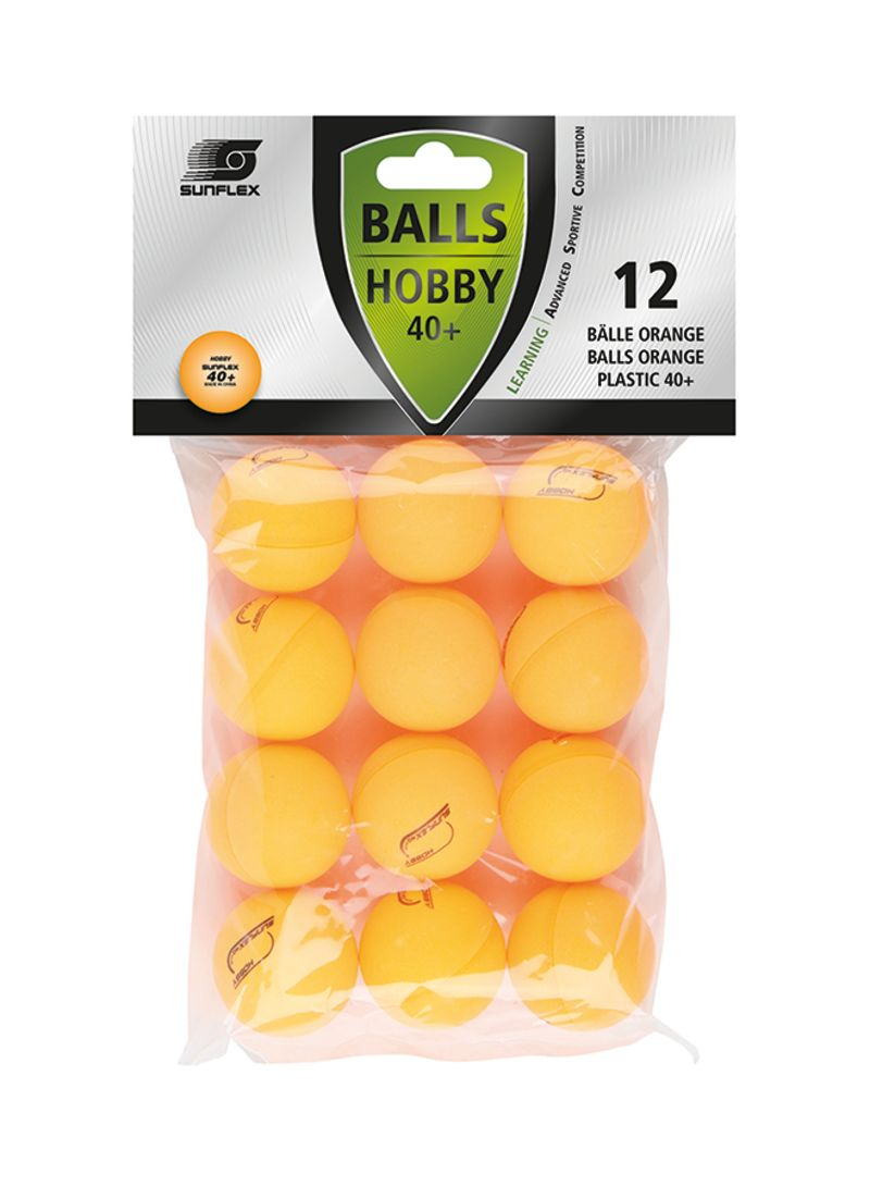 12-Piece Hobby Table Tennis Ball Set