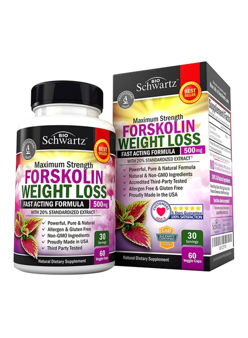Forskolin Extract For Weight Loss - 60 Capsules