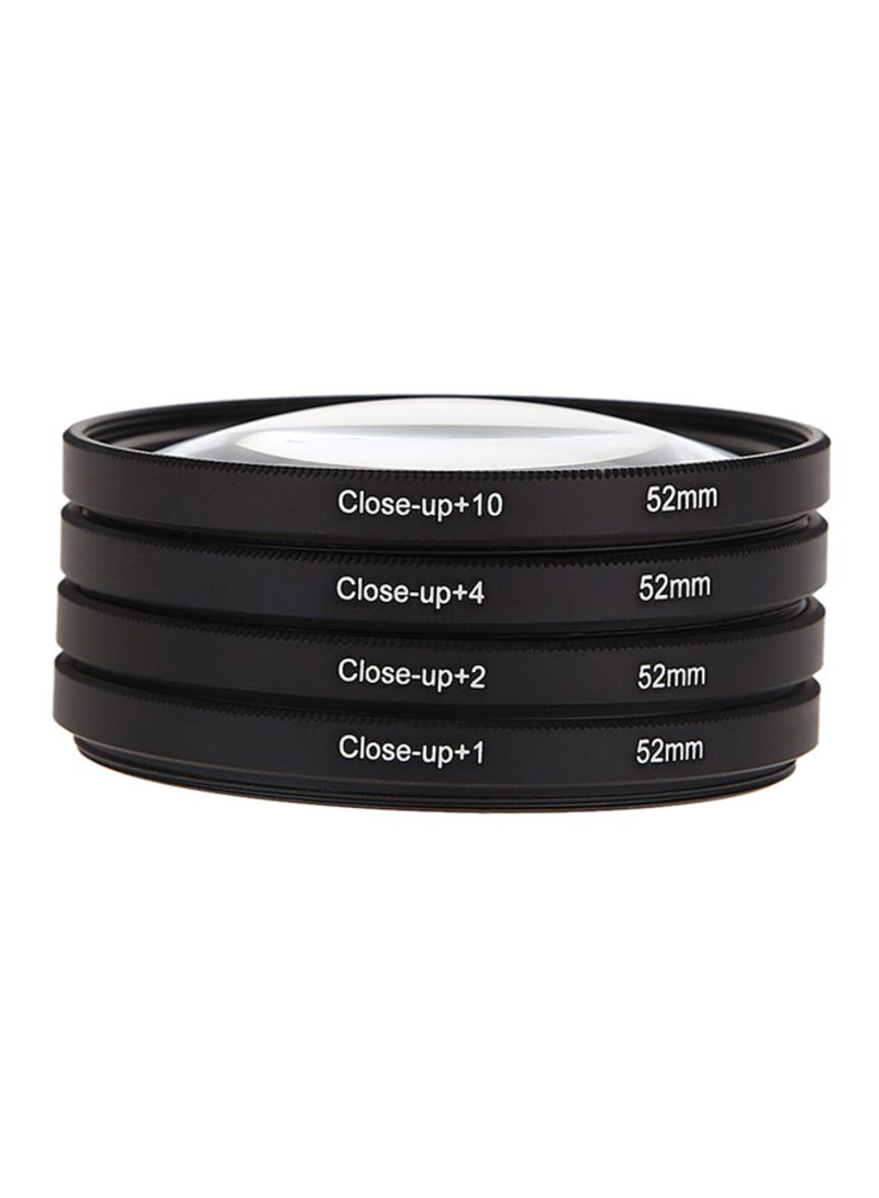 Macro Close-Up Filter Lens Kit For Nikon D5100 D5200 D5300 D7100 Black 52 millimeter