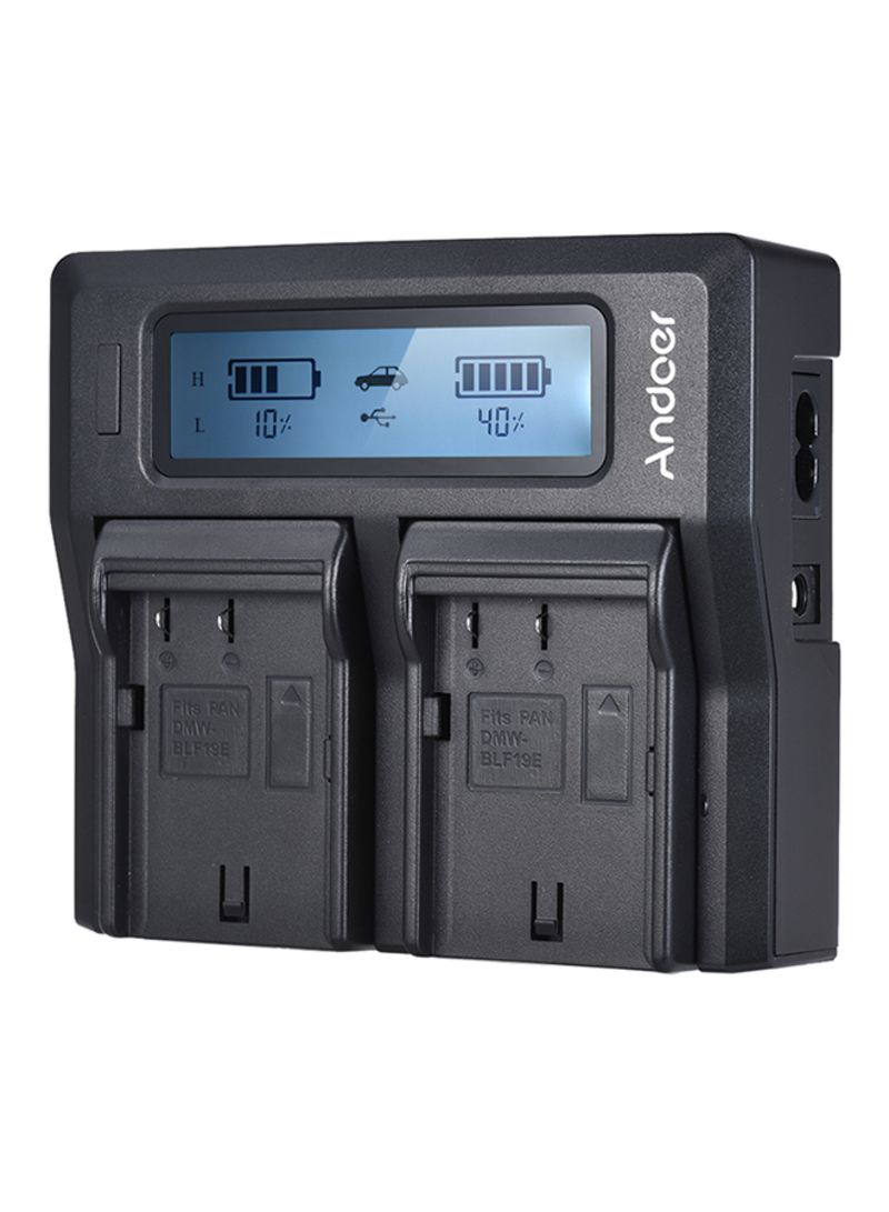 Dual Channel Lcd Camera Battery Charger For Panasonic Lumix
