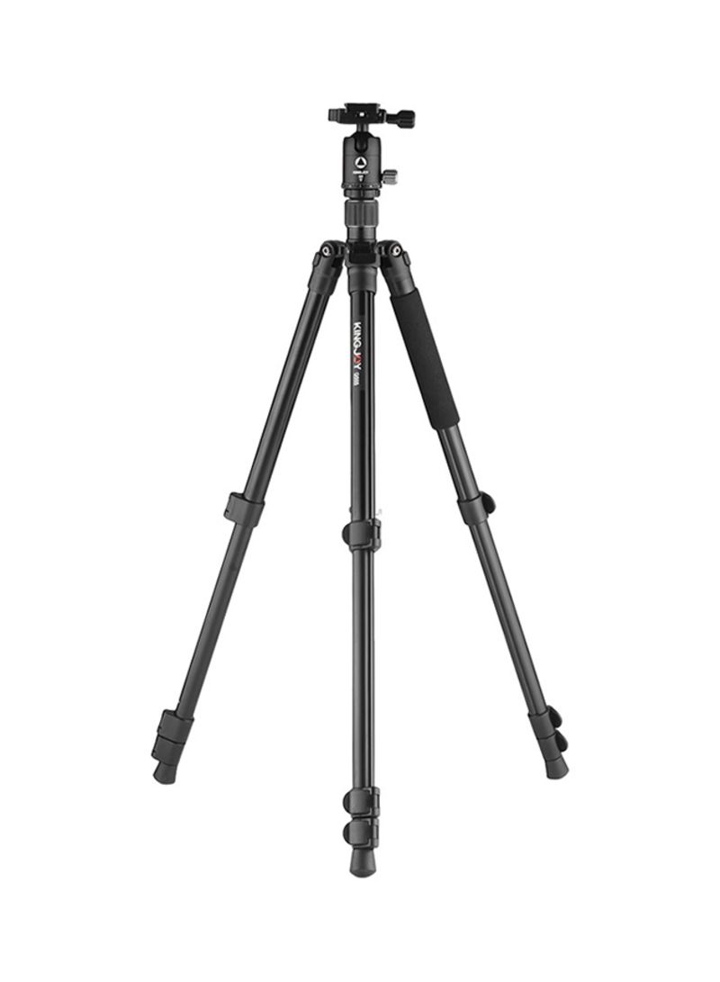 4-Section Travel Tripod For DSLR And Camcorders Black