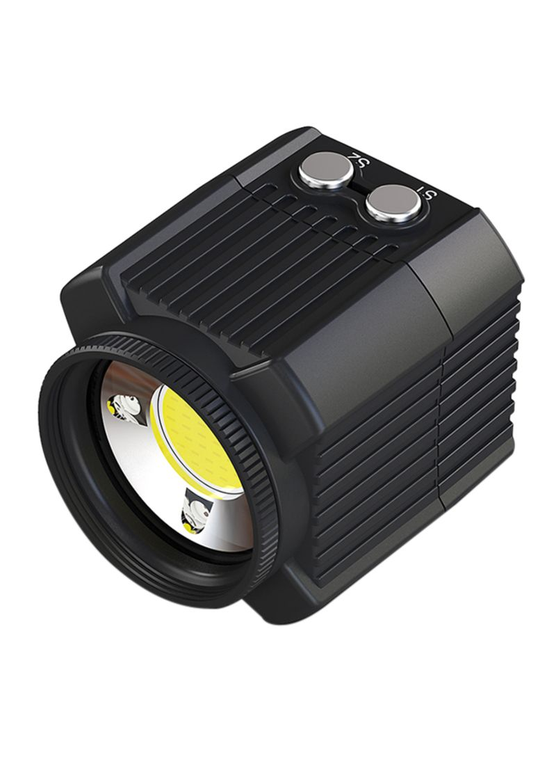 Mini Rechargeable LED Video Light Diving Photography Lamp Underwater 60M Waterproof IPX8 Camping Lighting for DJI Drone/ GoPro/  DSLR Cameras/ Camcorders/ Action Cameras/ Smartphone