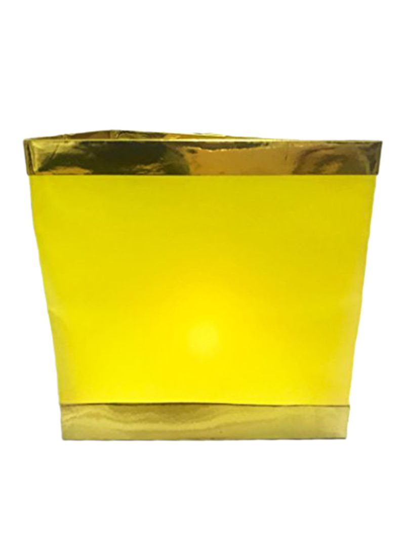 10-Piece Water Floating Candle Holder Lantern Yellow 12.2x2x7.9 inch