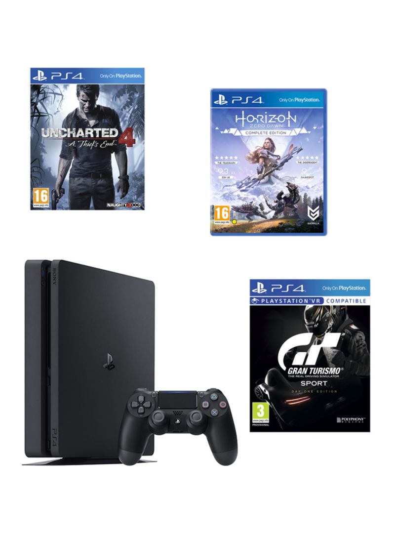 PlayStation 4 500GB Console With 3 Games And PS Plus 90 Days Subscription