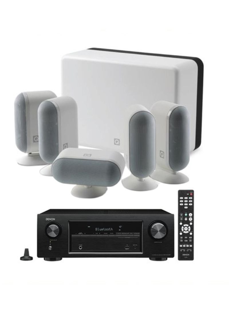 5.2-Channel Home Theater With Denon Amplifier 7000I + AVRX550BT White/Black