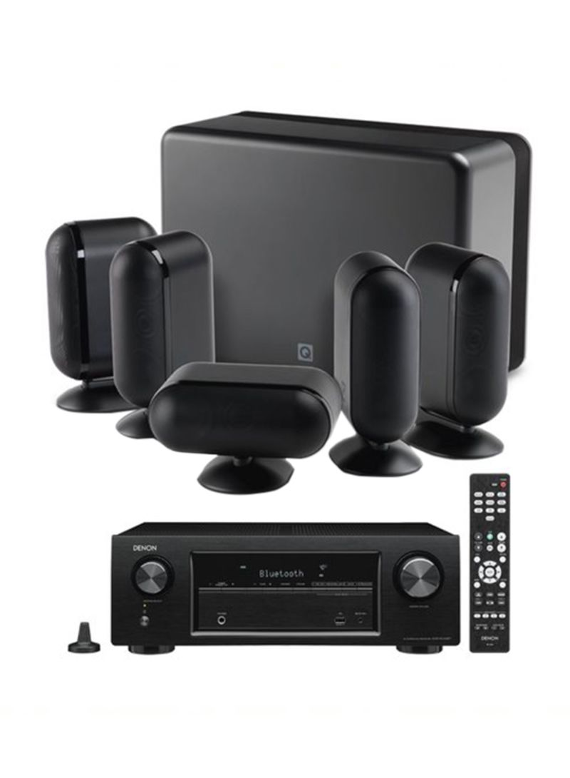 5.2-Channel Home Theater With Denon Amplifier 7000I + AVRX550BT Black
