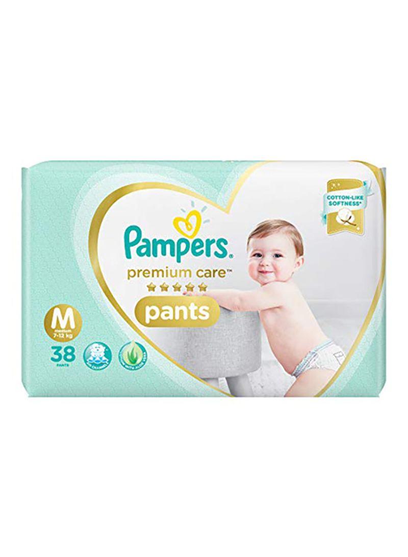 Premium Care Pants Diaper, Size M, 7-12 Kg, 38 Count