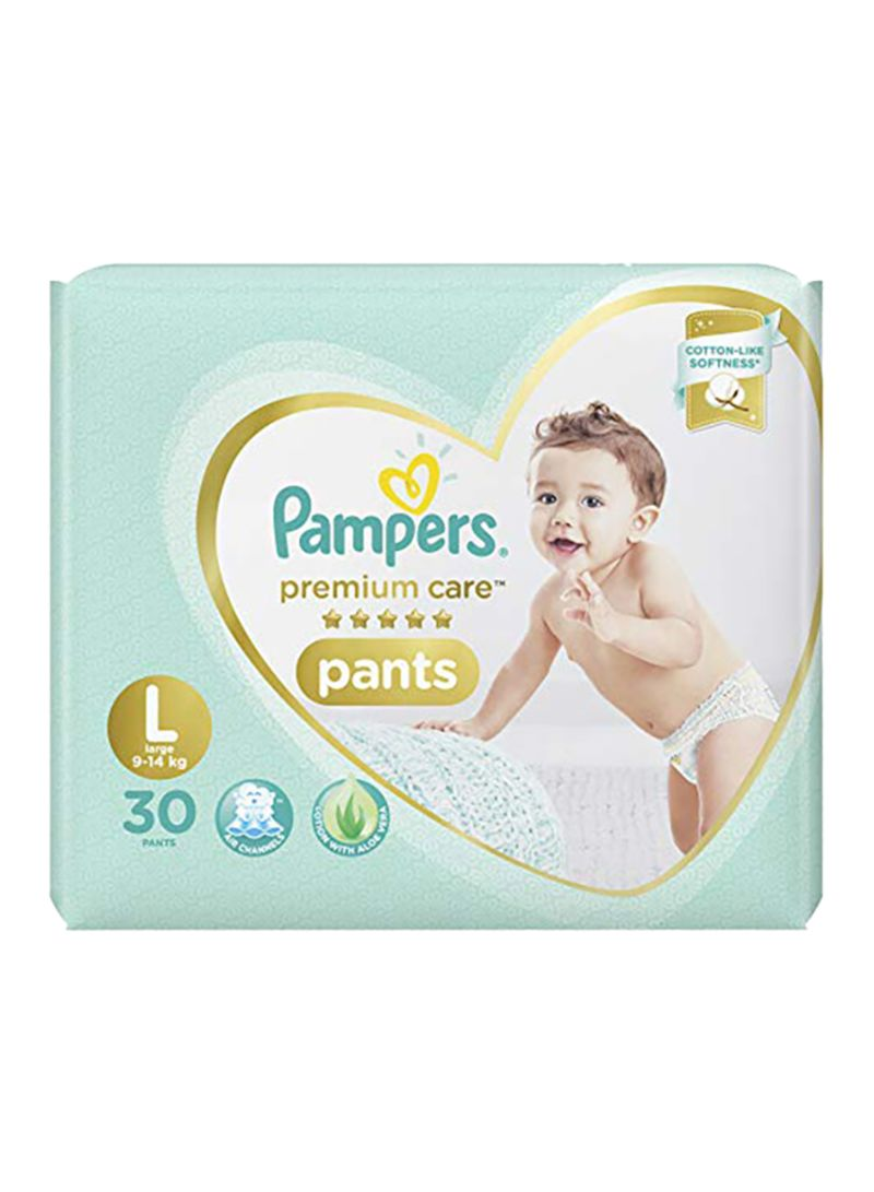 Premium Care Pants Diaper, Size L, 9-14 Kg, 30 Count
