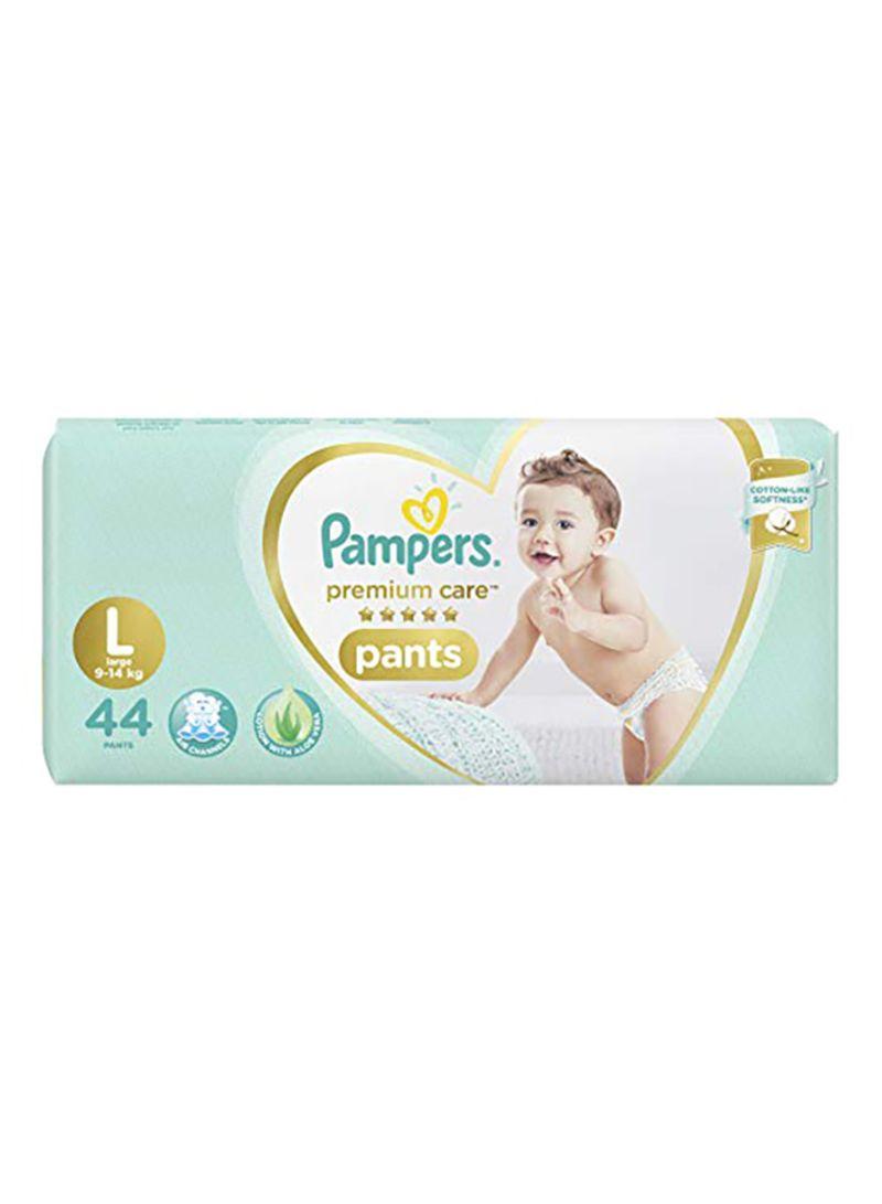 Premium Care Pants Diaper, Size L, 9-14 Kg, 44 Count