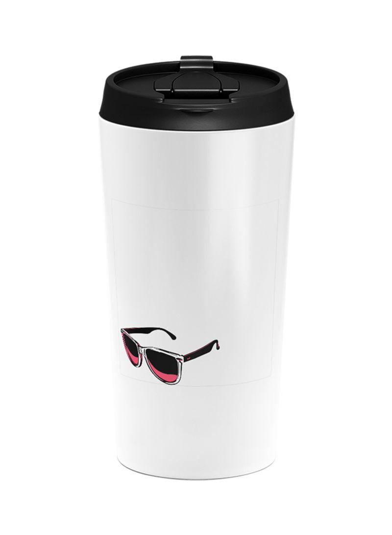 Stainless Steel Sun Shades Sunglasses Summer Print Tumbler White 15 centimeter