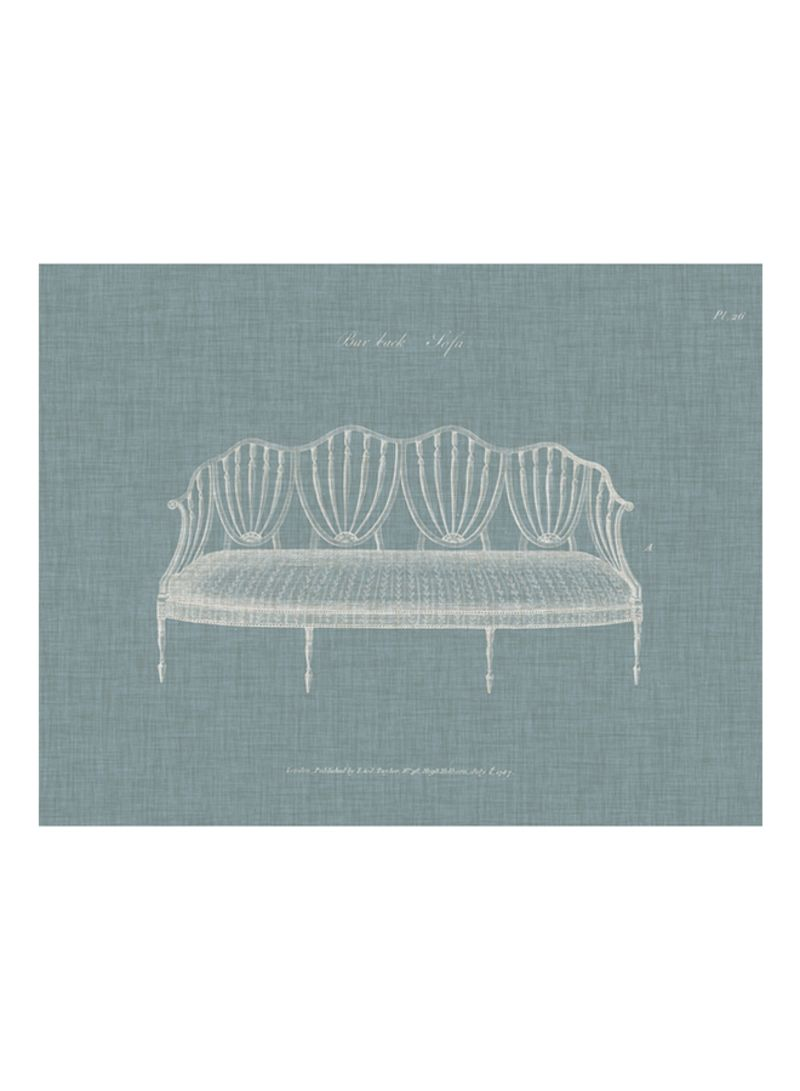 Hepplewhite Sofas I Poster Blue/White