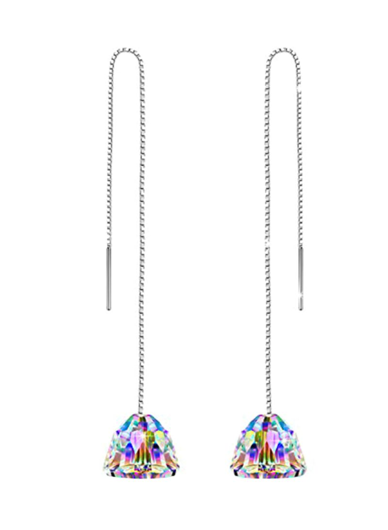 925 Sterling Silver Swarovski Crystal Hypoallergenic Ear Threads