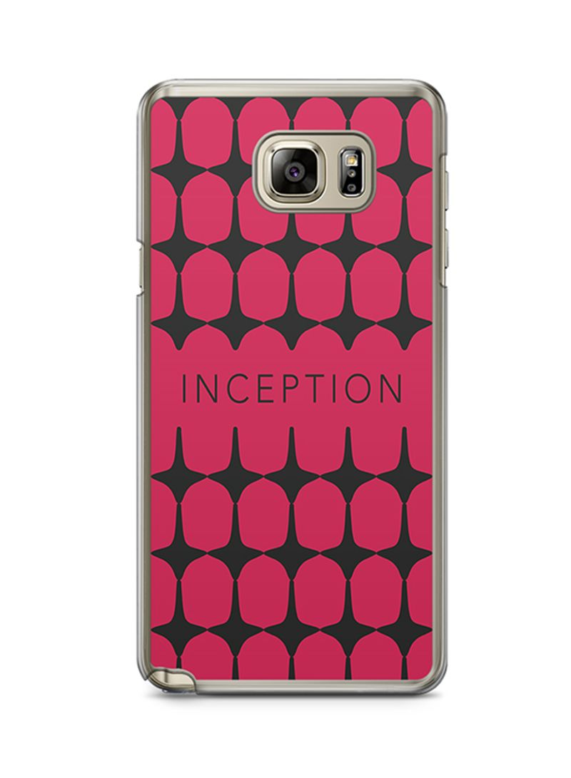 Transparent Edge Protective Case Cover For Samsung Galaxy Note 5 Pattern Tops