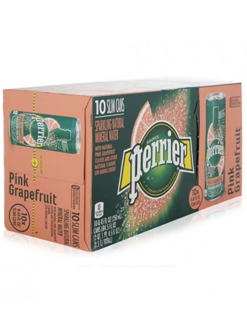 Sparkling Mineral Water Slim Can GrapeFruit 250 ml Pack of 10