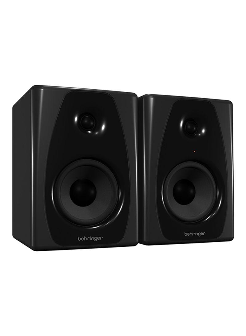 Studio 5″ Powered Studio Monitors Multimedia Speakers 50USB Pair Black