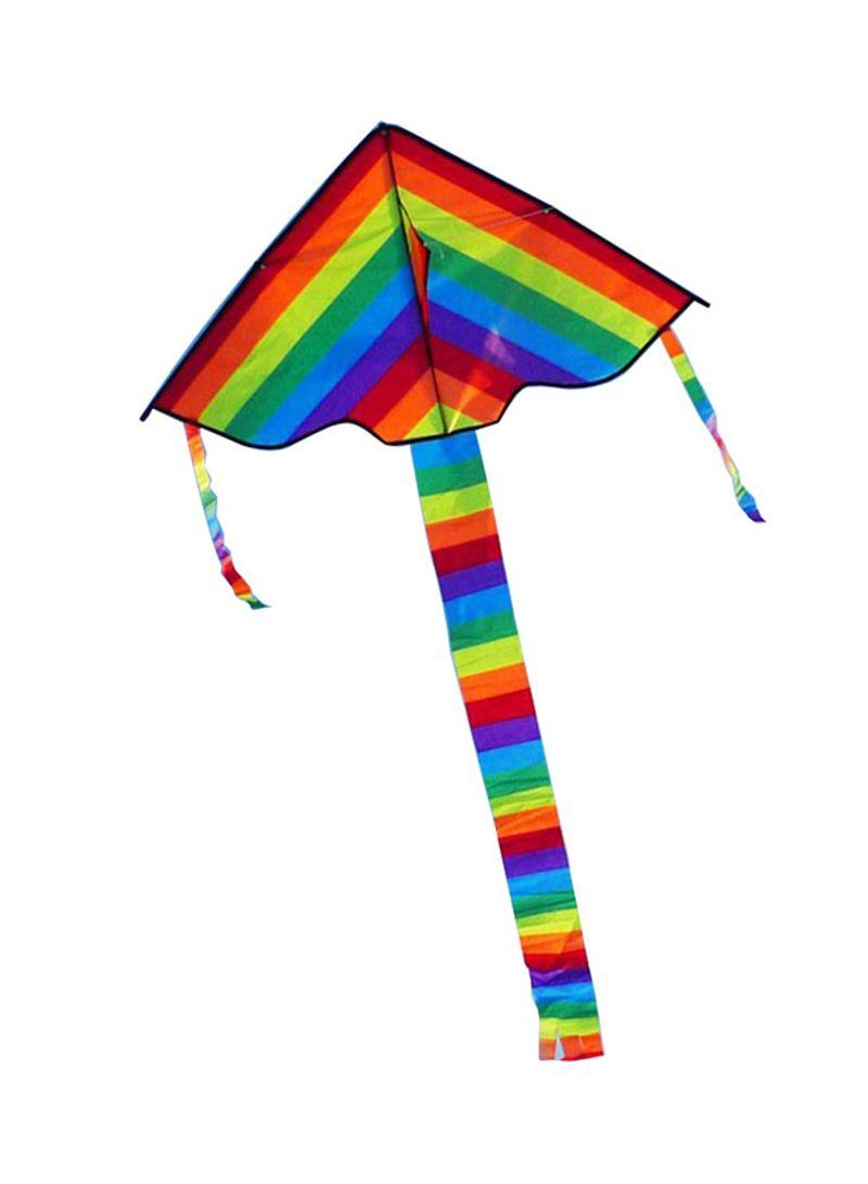 Long Tail Nylon Rainbow Kite Outdoor Toys For Children
