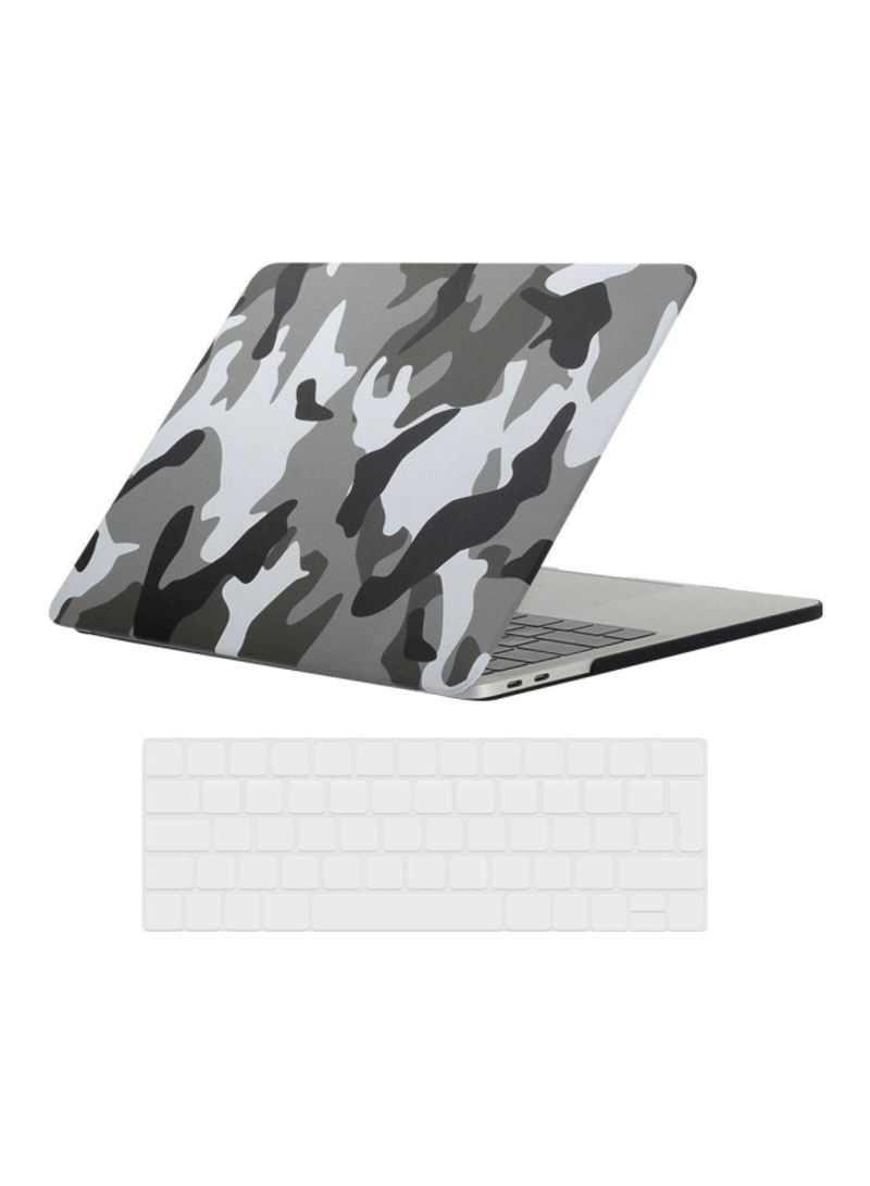 Hard Case With Keyboards Skin For Apple MacBook Pro Touch Bar 13-Inch 2016 Grey/Black