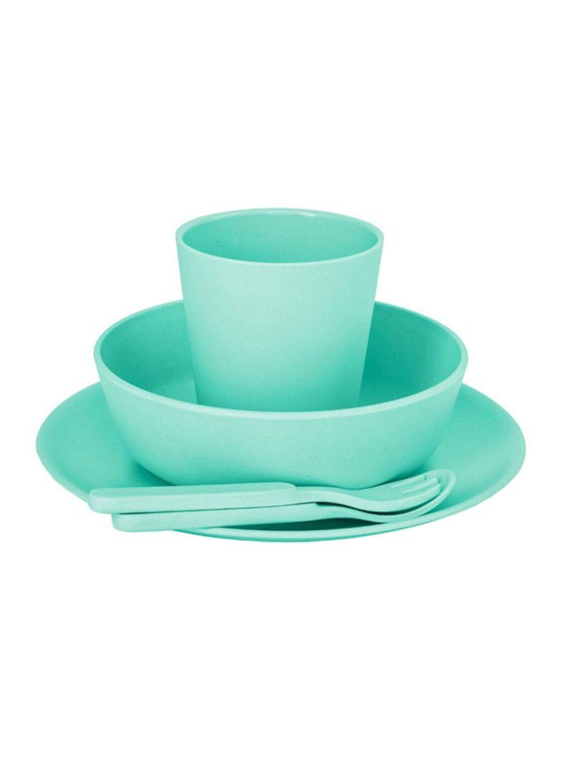 5-Piece Plastic Dinnerware Set