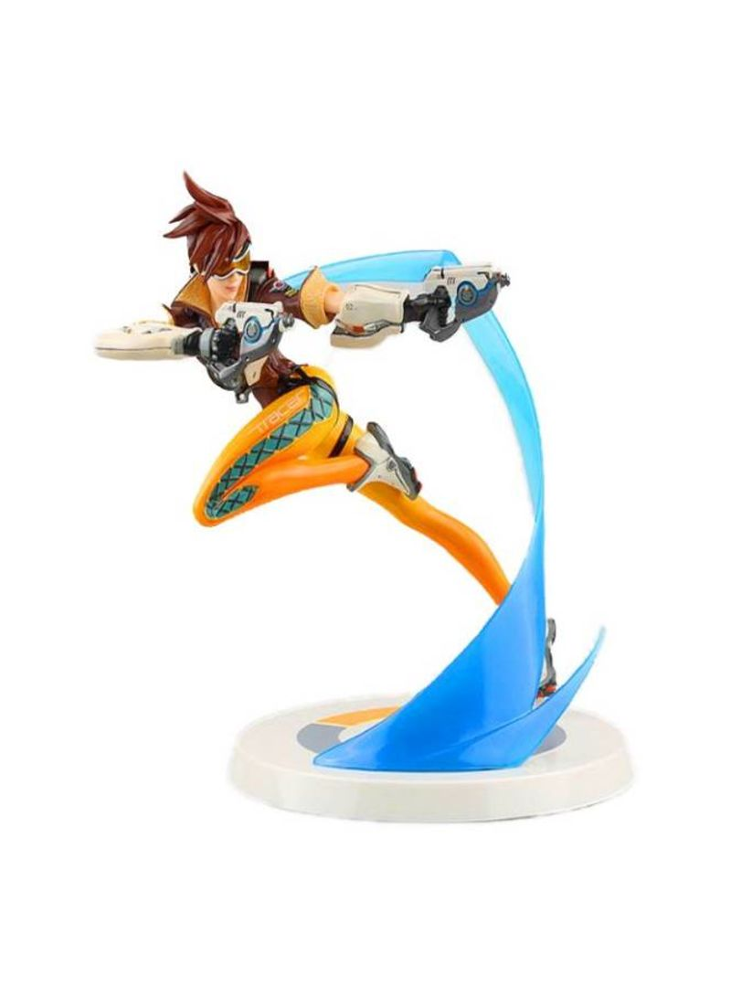 26cm Overwatch Tracer Garage kits model Game animation model toys Room decoration 9 inch