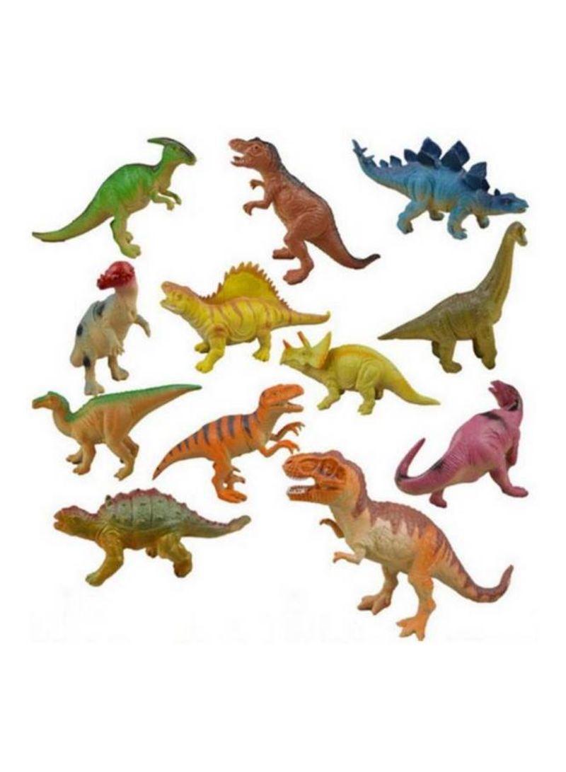12pcs Jurassic simulation soft rubber vocal dinosaur toys cartoon dinosaur model 18 centimeter
