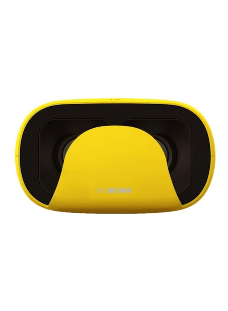 3D VR Glasses Headset Yellow/Black