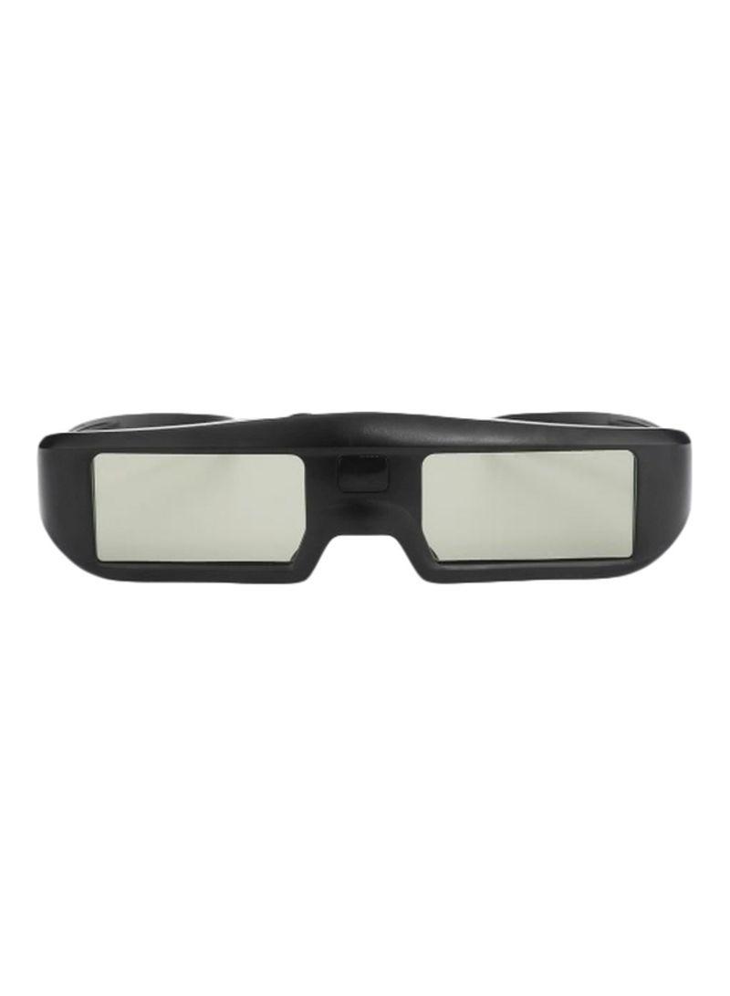 3D Active Shutter Virtual Reality Glasses Black