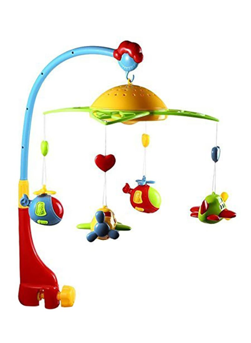 Baby's 360 Degrees Plastic Rotating Rattles Musical Star Projector Hanging Bell Crib Toy (Multicolour)
