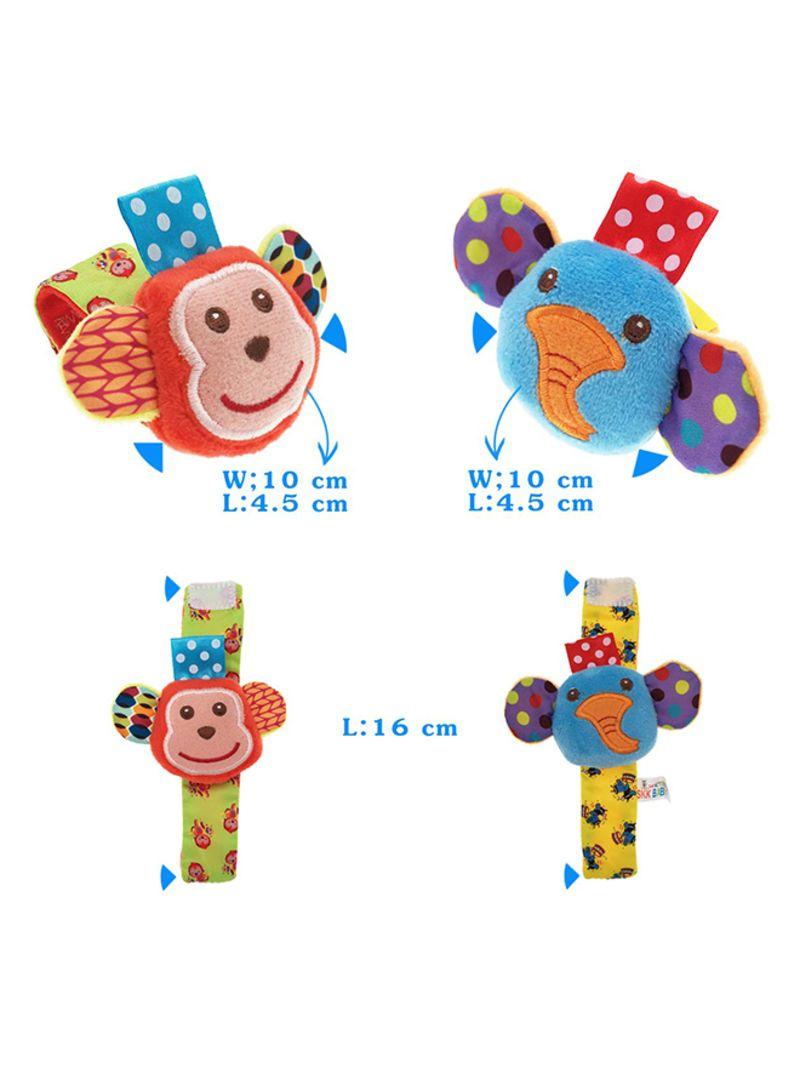 Urutoreo Baby Rattle Baby Wrist Rattle And Foot Rattles Finder Socks Set (4-Piece)