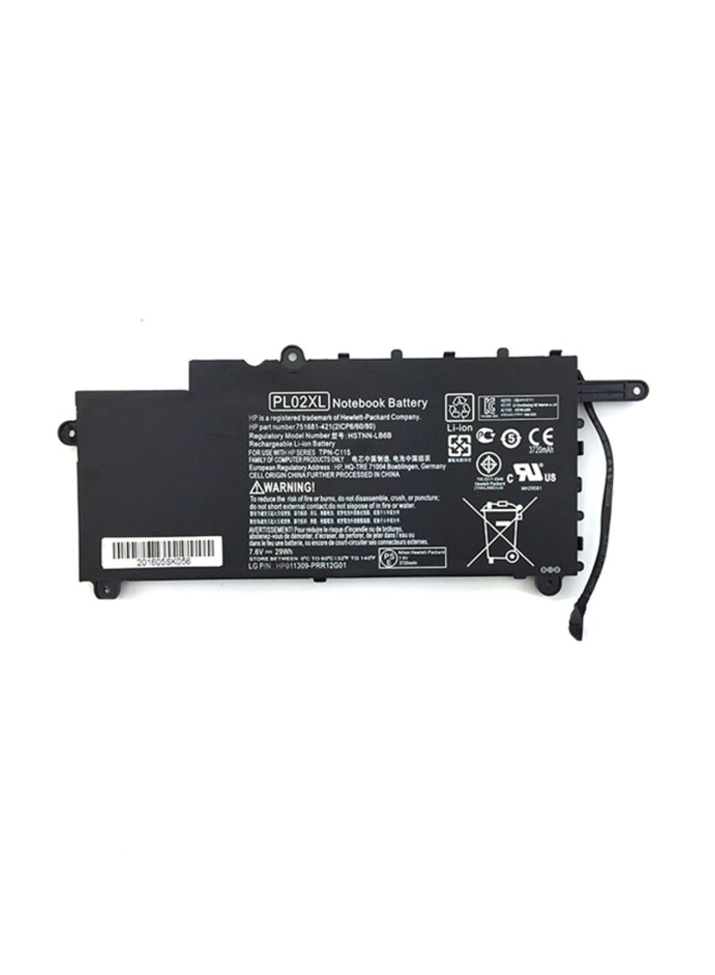 Replacement Laptop Notebook Battery For HP PL02XL Black