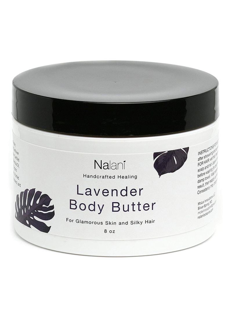 All-Natural Organic Body Butter For Skin And Hair Care- 8 Ounces- Lavender Scented