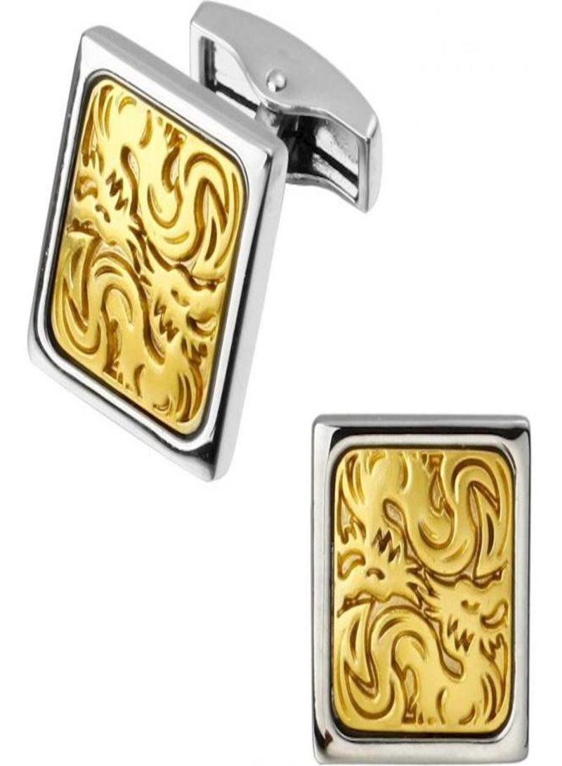 fashion stainless steel metal cufflinks of mens shirts gold yellow