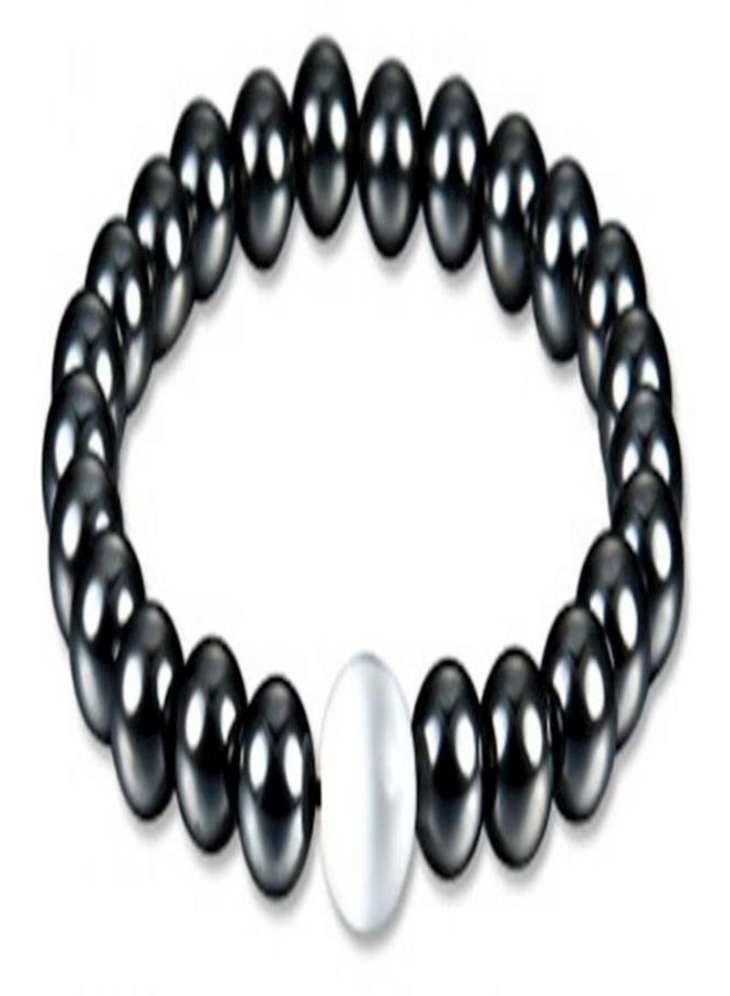 Weight Loss Round Stone Magnetic Therapy Bracelet